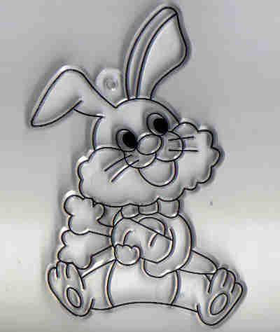 Sklíčko plast  - Zajíček 7x5 cm