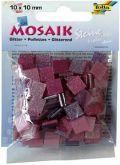Mozaika třpytivá 10x10mm- růžová