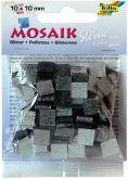 Mozaika TŘPYTIVÁ šedá 10x10mm