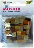 Mozaika TŘPYTIVÁ hnědá 10x10mm