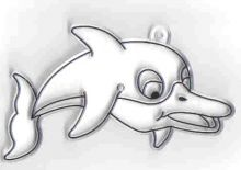 Zobrazit detail - Sklíčko malé - delfín
