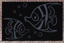 Škrábávací obrázky s holograf.podkladem 15 x 10 cm - RYBIČKA