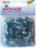 Mozaika TŘPYTIVÁ modrá 5x5mm