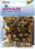 Mozaika TŘPYTIVÁ hnědá 5x5mm