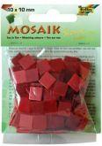 Mozaika LESKLÁ 10x10mm- červený mix
