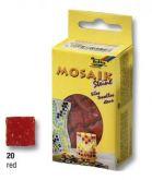 Červené mozaikové kamínky 10x10mm, 300 ks, 200g