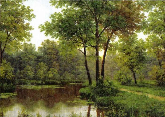 Reprodukce krajinka 13 x 18 cm