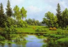 Zobrazit detail - Reprodukce krajinka 13 x 18 cm