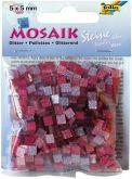Mozaika TŘPYTIVÁ růžová 5x5mm