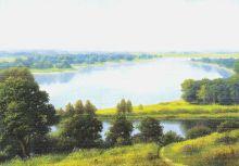 Zobrazit detail - AKCE Reprodukce krajinka 18 x 12,5 cm