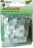 Mozaika LESKLÁ 10x10mm- BÍLÁ PERLEŤ mix