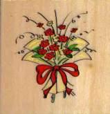 Zobrazit detail - Dřevěné razítko - KYTICE 5,5 x 5,5cm