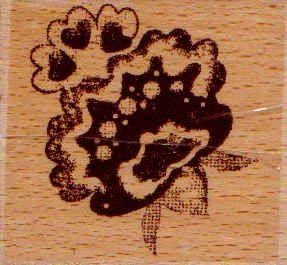 Dřevěné razítko 5,5cm kytice