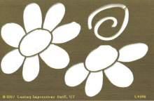 Zobrazit detail - Šablona mosaz - KOPRETINA 7x11 cm