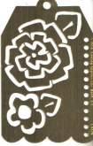 Šablona mosaz - VISAČKA 7x10 cm