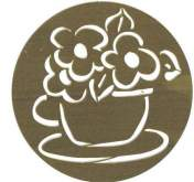 Zobrazit detail - Šablona mosaz  květy  85mm