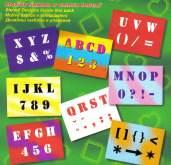 Šablony písmena, číslice a znaky - 8 archů
