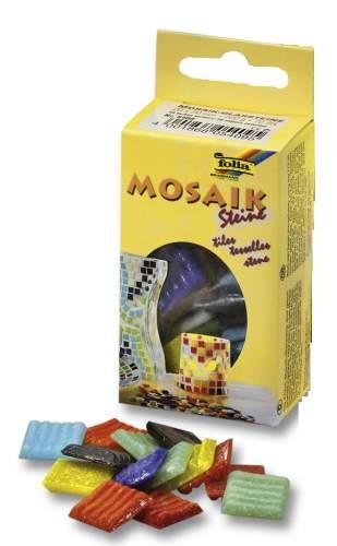 Mozaikové skleněné kamínky 20x20 mm - mix barev