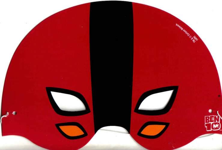 Karnevalová maska BEN10 19x13 cm - 1ks