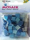 Mozaika TŘPYTIVÁ modrá 10x10mm