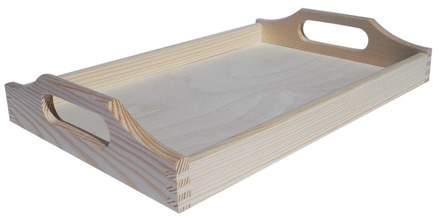 MASIV - Dřevěný Tác Obdélník střední 39,5x24 cm