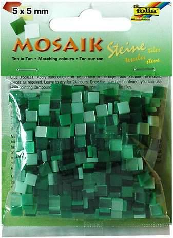 Mozaika LESKLÁ zelená 5x5mm