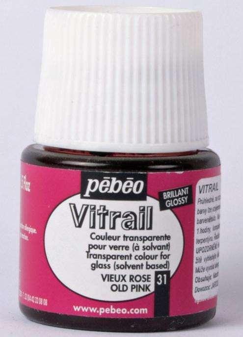 Barva na sklo Vitrail Pébéo - 31 STARORŮŽOVÁ Pebeo