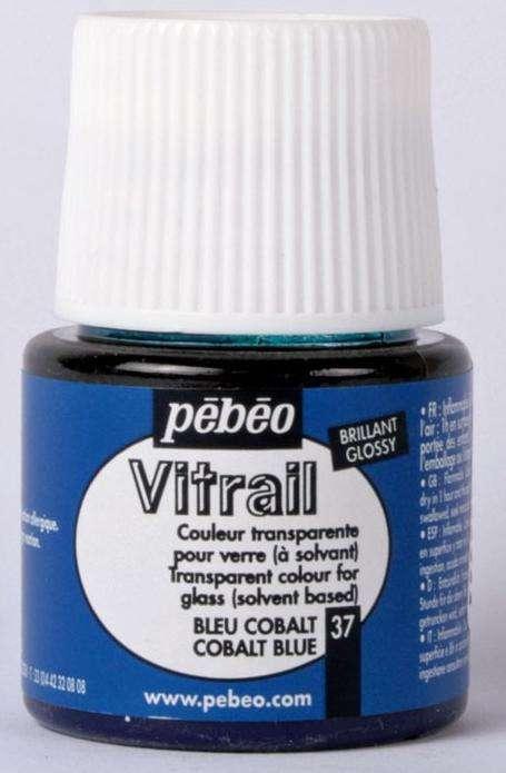 Barva na sklo Vitrail Pébéo - 37 brilantní modrá Pebeo