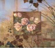 Zobrazit detail - Reprodukce na decoupage 30 x 30 cm RŮŽE