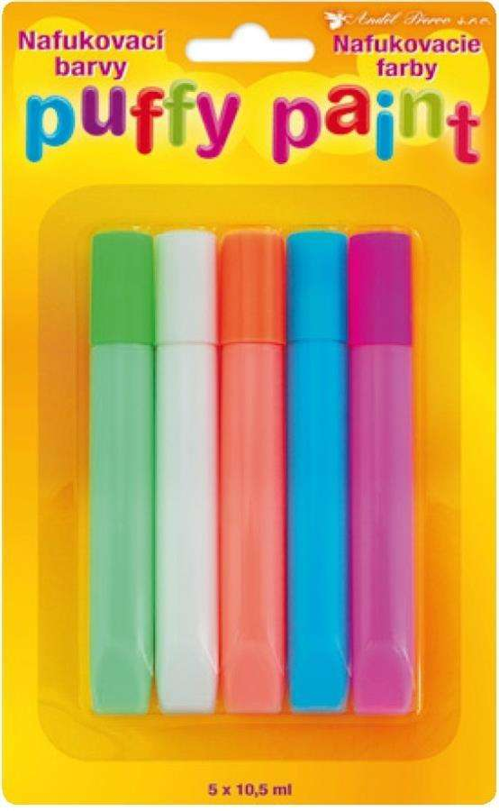 PUFFY - nafukovací barvy na textil 10,5ml x 5ks Amos