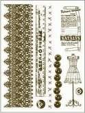 Razítka gelová   KRAJKA, METR, KNOFLÍKY, 15x20cm