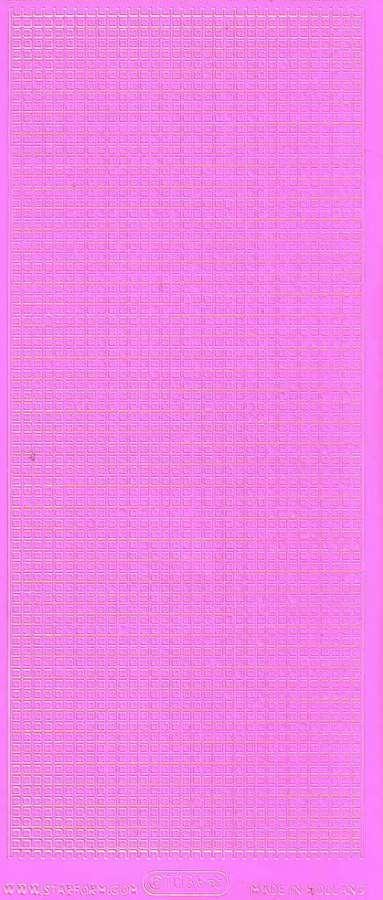 Obrysové samolepky RŮŽOVÁ MŘÍŽKA 10x23cm