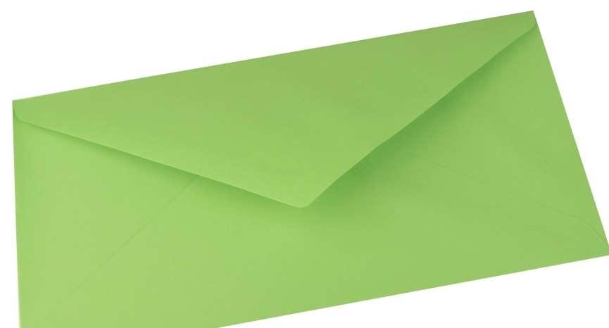 Papírová Barevná Obálka DL hrášková 110x220mm