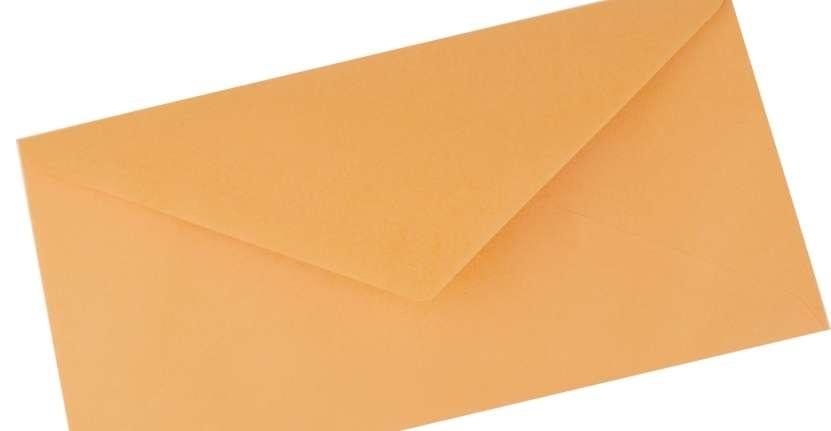 Papírová Barevná Obálka DL Meruňka 110x220mm