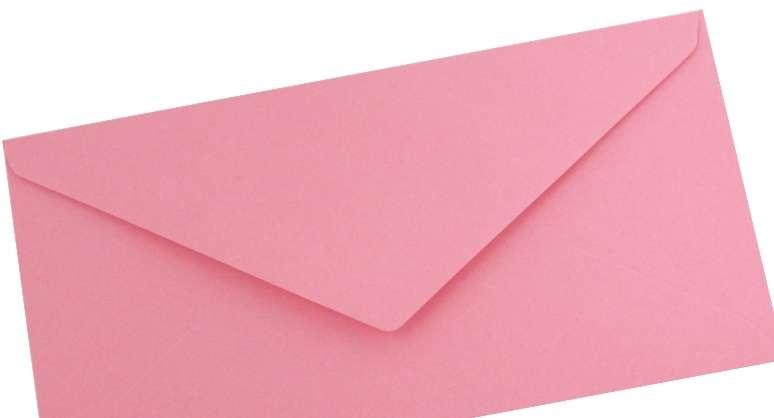 Papírová Barevná Obálka DL Růžová 110x220mm