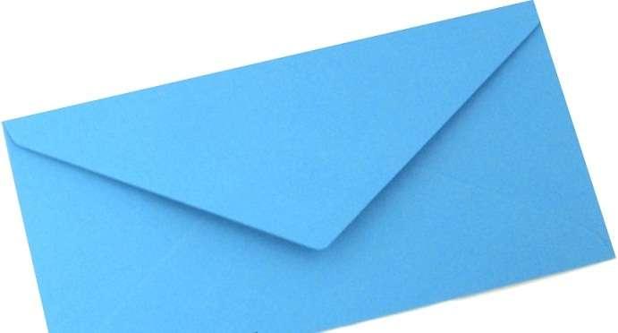 Papírová Barevná Obálka DLOUHÁ Modrá 110x220mm
