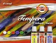 Temperové barvy 6x10ml