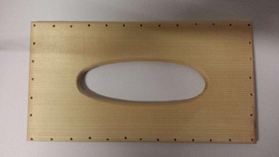 VÍKO dřevo na krabičku na kapesníky 13,5x25cm