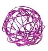 Dekorace KOULE z drátku fialová 2cm - 1ks