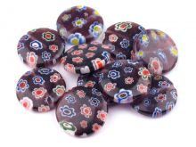Millefiori placička Ø18mm - 1ks