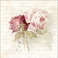 Ubrousek 33 x 33 cm VINTAGE,Růže