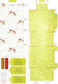 Zobrazit detail - Šablona papírová na výrobu krabiček VÁNOČNÍ arch A4