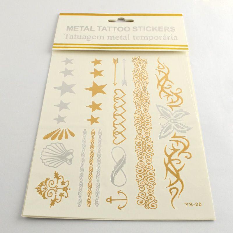 Sada tetovací obtisky SRDÍČKA,VZORY 15x20cm