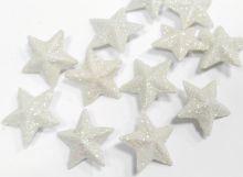 Zobrazit detail - Dekorace  přízdoba s glitry 2cm  hvězdička - 1ks