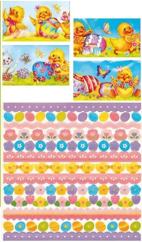 Dekorace na vajíčka - 12košilek a samolepky 22,5x15cm