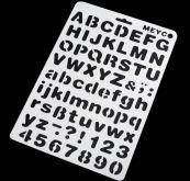 Zobrazit detail - Šablona plastová  ABECEDA  20x 30cm