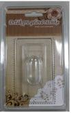 Akrylový blok s úchytkou na razítka ČIRÝ 10x6xcm