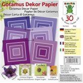Origami GOTAMUS fialové čtverce 15 x 15 cm 80gm/2 - 30ks