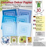 Origami GOTAMUS modré čtverce 15 x 15 cm 80gm/2 - 30ks