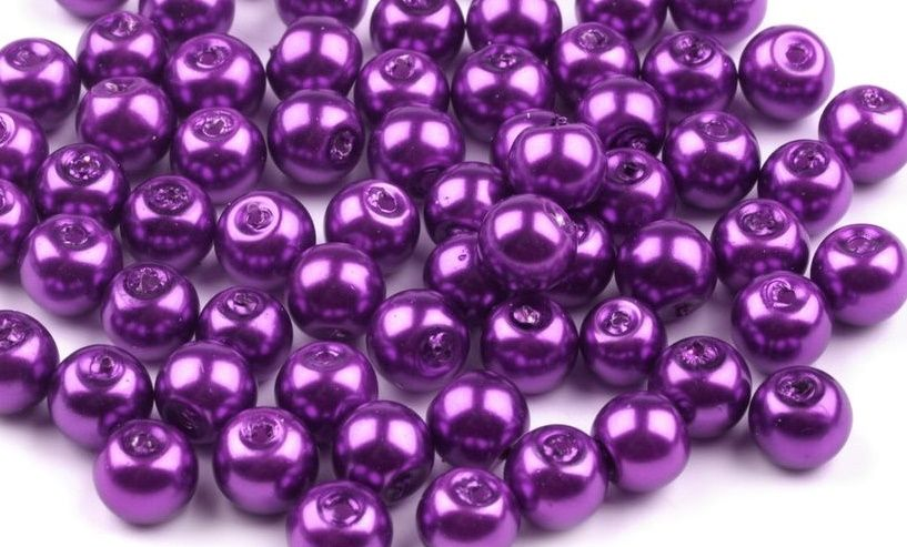 Voskované perly skleněné  Ø 6mm - 1ks